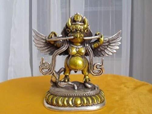 LOSAYM Statuen Dekoartikel Skulpturen Figuren Tibetisch Silber Buddhist Bronze Garuda Statue Bouddha Statue