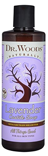 Dr. Woods Pure Lavender Castile Soap with Organic Shea Butter, 16 Ounce