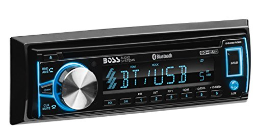 BOSS Audio Systems Elite 560BRGB Car Stereo - Single Din, Bluetooth Audio and Hands-Free Calling, CD, MP3, USB, AUX Input, AM FM Radio Receiver, Multi Color Illumination, Detachable Front Panel