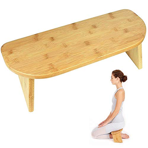 ZZAZXB Banco para Meditación Posición Ideal para Meditar, Espalda Recta Y Rodillas En El Suelo, Taburete De Madera Plegable para Almacenamiento Y Transporte Familia Y Gimnasio