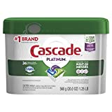 Cascade Platinum Dishwasher Pods, ActionPacs Detergent, Fresh Scent, 36 count