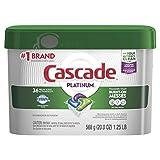 Cascade Platinum Dishwasher Detergent ActionPacs, Fresh, 36 count