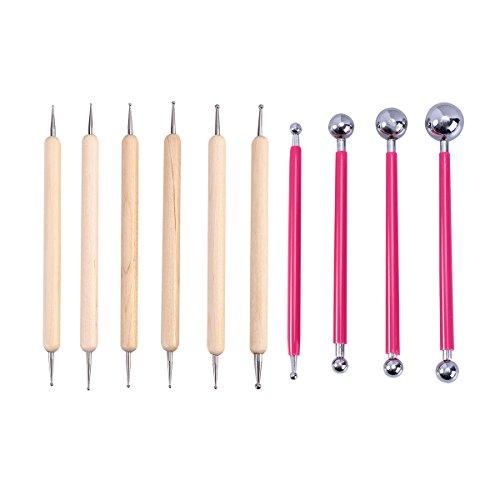 healifty 10pieza metal Stylus Ball Modelaje para herramientas Kit (R