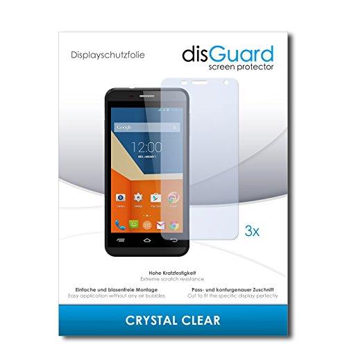 disGuard® Bildschirmschutzfolie [Crystal Clear] kompatibel mit Gigabyte GSmart Essence [3 Stück] Kristallklar, Transparent, Unsichtbar, Extrem Kratzfest, Anti-Fingerabdruck - Panzerglas Folie, Schutzfolie