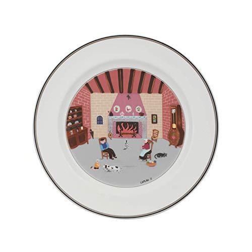 Villeroy & Boch 10-2337-2626 Assiette Plate Porcelaine Rouge 29,2 x 29,2 x 8,5 cm 1 Assiette