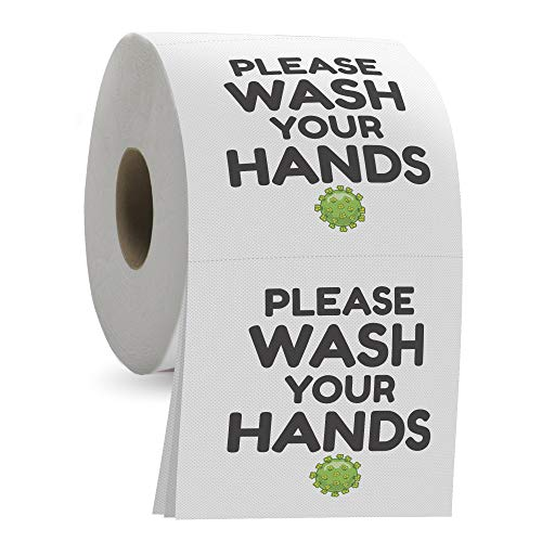 Please Wash Your Hands Toilet Paper - 3 Ply Bathroom Tissue with 200 Sheets in Each Roll - Funny and...