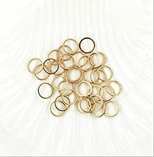 New Charm Exclusive Line Making Jewelry 25 Linking Rings Gold Tone Brass Circle Connector 10mm Closed Jump Ring 222899664243IN 791