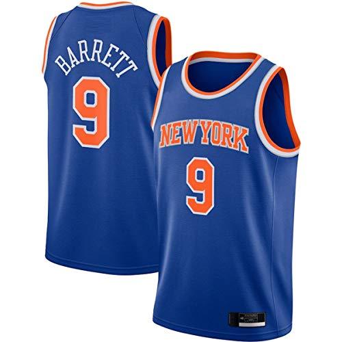 EUEU Camisetas de baloncesto personalizadas RJ New York NO.9 Knicks Barrett 2020/21 Swingman Jersey - Azul - Edición Icono