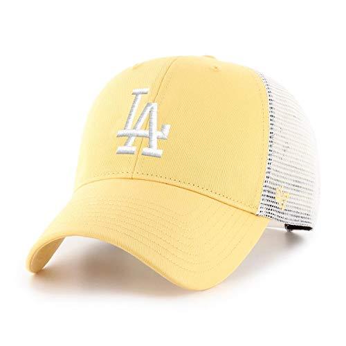 47Brand Los Angeles Dodgers MLB Cap Verstellbar Baseball Kappe Snapback Gelb - One-Size