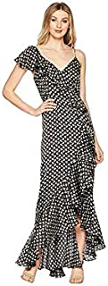 Jill Jill Stuart Women's Asymmetrical Ruffle Dress