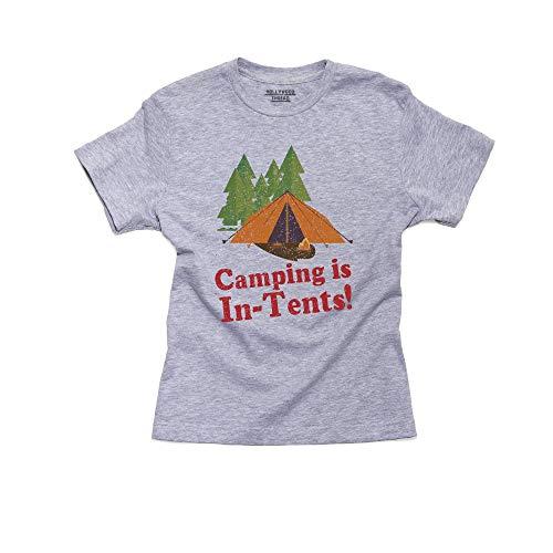 Hilarische Camping Is In Tenten Spelen op Woorden Grafische Jongens Katoen Jeugd T-Shirt