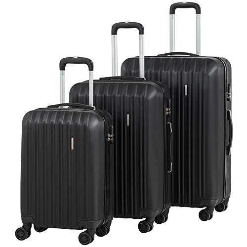 Murtisol ABS Hardside Luggage Sets With Spinner Dual Wheels,Rose Gold,4-Piece Set(16/20/24/28)