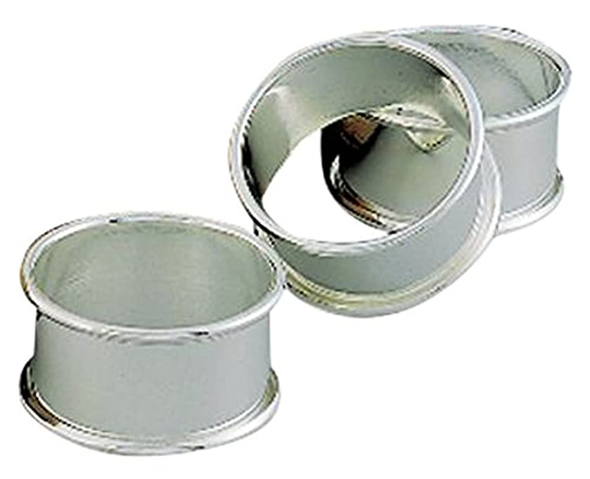 Creative Gifts International 010041 Rolled Edge Napkin Ring, Silver
