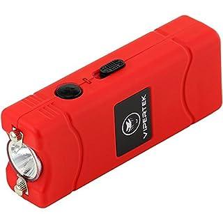 VIPERTEK VTS-881 - 35 Billion Micro Stun Gun - Rechargeable with LED Flashlight, Red