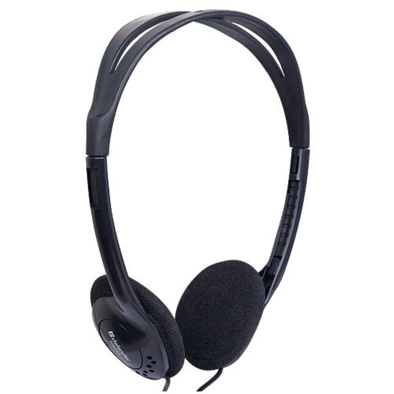 スペイン真実にマイルドDefender Headset ステレオ ヘッドフォン Aura 101 ブラック ケーブル1個.8 m