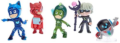 Simba 109402364 - Set di action figure PJ Masks con super pigiamini e cattivi, 5 personaggi, 8 cm, per bambini dai 3 anni in su