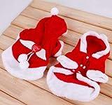 SYMTOP Disfraz Navideño de Papá Noel para Perro con Alas de Ángel para Mascotas Accesorios Fiesta de Navidad Party Foto de Vacaciones de Invierno - M