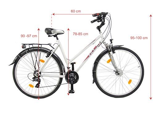 XB3 28 Zoll Fahrrad 21 Gang Federgabel Zoom StVZO Shimano Nabendynamo LED Licht Standlicht weiß