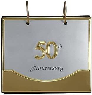 Malden International Designs Wedding 50th Anniversary Flip Album Two Tone Picture Frame, 4x6, Gold/Silver