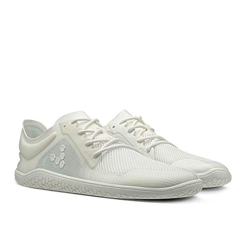 Vivobarefoot Primus Lite II Recycled, Womens Vegan Lightweight Sneakers with Barefoot Sole Bright White