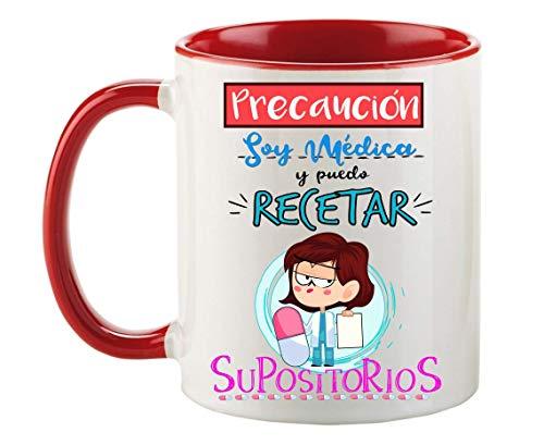 FUNNY CUP Taza Precaución Soy Médica y Puedo recetar