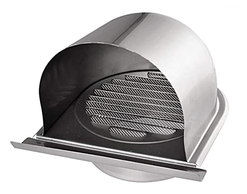 yaoqijie 4 '' 100mm 100mm impermeabile in acciaio inossidabile tappo in acciaio inox griglia ventilazione cappuccio anti-corrosione aspirante di scarico dell'aria adatto per la copertura della presa a