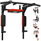 BESTHLS Wall Mounted Pull Up Bar Multifunctional Chin Up Bar, Dip Stand for Indoor Home Gym Workout, Power Tower Set Support to 440Lbs