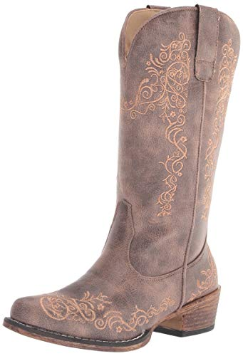 Roper womens Western Boot, Brown, 8.5 US