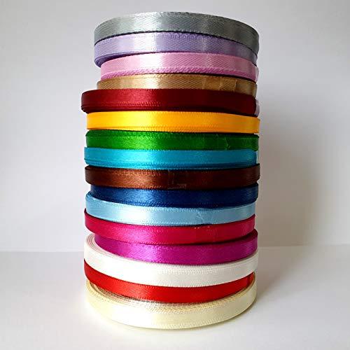 1//2 Pandahall 1//2 inch Satin Ribbons Mixed Colors 10Rolls//250Yards//22m Ribbon for Gifts Wrap Craft Wedding Packaging Decorations 12mm