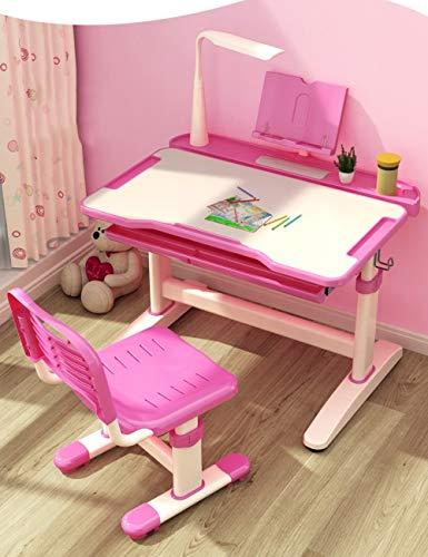 LLA Couchtische Kinderschreibtisch, Computer-Schreibtisch, Schwenkbarer Tisch, Pull-Out-Fach, ergonomisches Design. (Tabelle Only),Rosa
