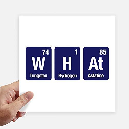 DIYthinker Wat Chemische Element Wetenschap Vierkante Stickers 20Cm Wandkoffer Laptop Motobike Decal 4 Stks