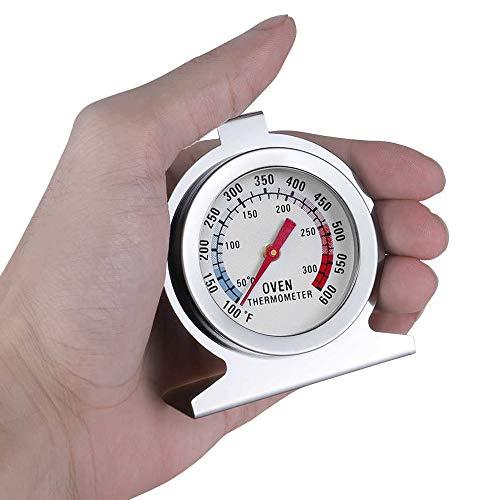 Termômetro Analógico Forno Base Inox 300° Para Fogão A Gás
