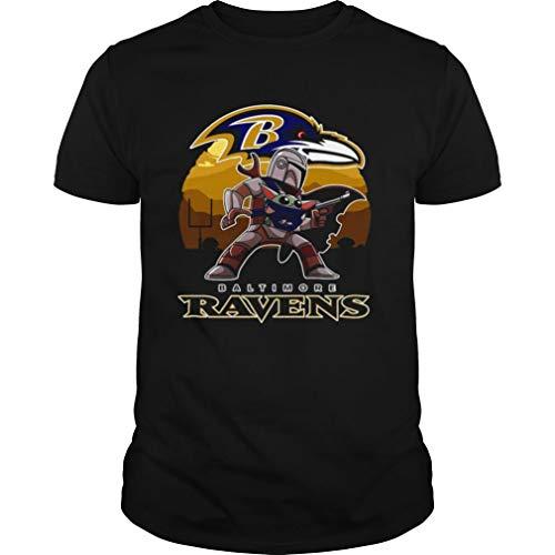 The Mandal orian St ar W ar Baby Yo da with Baltimore Ravens 2021 Shirt mesh Gift Bags with Drawstring 5x7