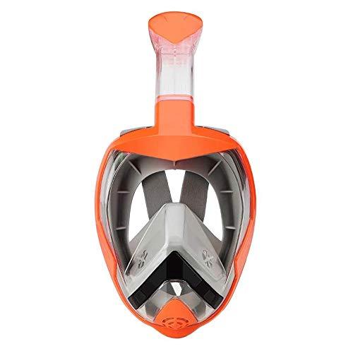 LYYAN Suministros de Buceo Easybreath Máscara de Buceo Integral Hombre Mujer Máscara Snorkel Cara Completa 180° Vista Panorámica Anti-Fugas Anti-Niebla Gafas de Bucear Gafas de Natación Deportes