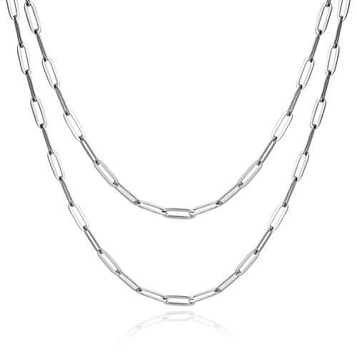 ALEXCRAFT - Cadena de eslabones de acero inoxidable de 7,3 m para joyería