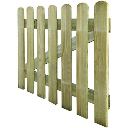 UnfadeMemory Gartentor Holz Zauntor Gartenpforte Holztor aus Imprägniertes Kiefernholz Verrottungsbeständig für Lattenzaun Gartenzaun 60/80/100/120/150cm Optional (100 x 80 cm)