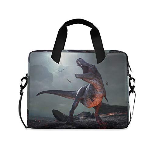 JNlover 3D Animal Dinosaur Laptop Bag 16 inch, Portable Sleeve Briefcase Laptop Case Notebook Computer Carrying Case Bag for Women Men