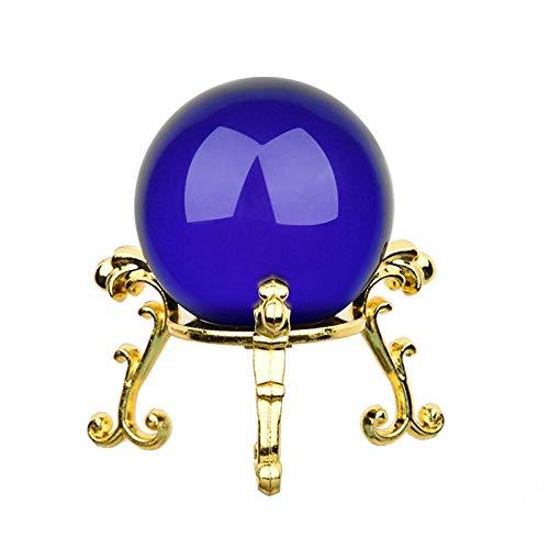 Bola Vidrio Bola de Cristal de 40 mm con Placa de Oro de Oro Combinación de Adornos caseros Decorativos Decoración de la decoración de la fotografía de Bodas Bola de Cristal (Color : C)