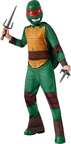 Rubies 886757 - TMNT Teenage Mutant Ninja Turtles Raphael Kostüm für Kinder - Größe 128-134cm