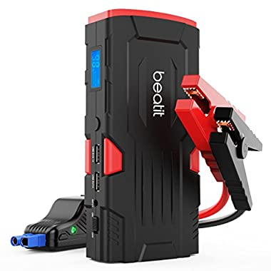 Beatit BT-D11 800A Peak 18000mAh 12V Portable Car Jump Starter (up to 7.5L Gas Or 5.5L Diesel) with Smart Jumper Cables Auto Battery Booster Power Pack