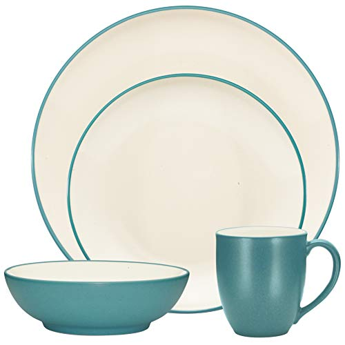 Noritake Colorwave Turquoise 4-Piece Coupe Place Dinnerware Setting in Blue/Green/Turquoise