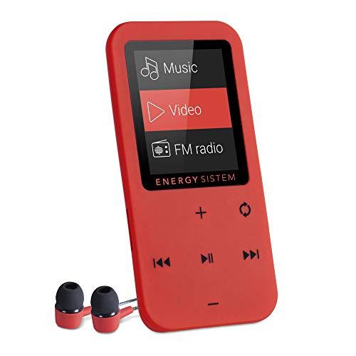 Oferta de Energy Sistem MP4 Touch (Reproductor de música MP4, 8 GB, Botones táctiles, Radio FM y microSD) – Rojo Coral