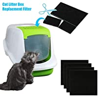 4-Pack Pet Cat Litter Box Activated Carbon Deodorizing Filter