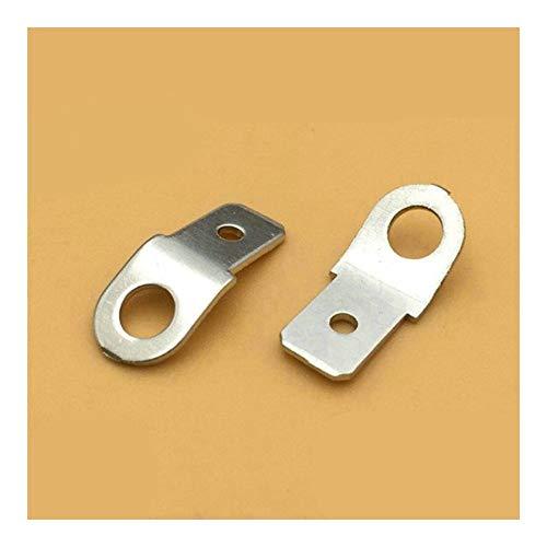 WFBD-CN Batterieklemmen 10pcs Lautsprecheranschlüsse 6.3 Schraubloch 4MM Dicke 0,8 mm Stecker-Stecker-Frühling