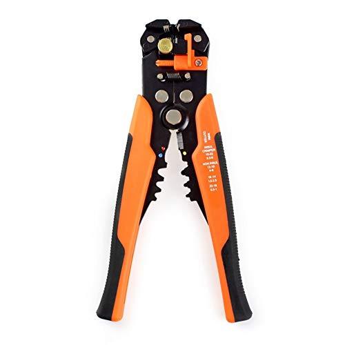 U/D Pimbuster Kabel-Draht-Stripper Cutter Quetschen Automatische Multifunktions Crimpen Stripping Zangenwerkzeuge Elektro (Color : Orange)