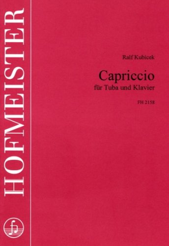 CAPRICCIO - arrangiert für Tuba - Klavier [Noten / Sheetmusic] Komponist: KUBICEK RALF
