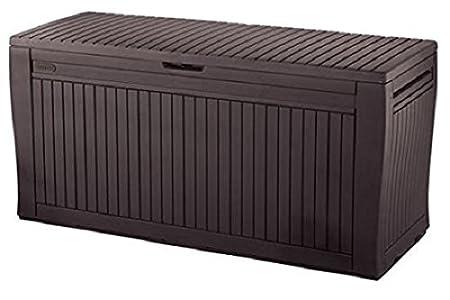 Keter Comfy - Arcón exterior, Capacidad 270 litros, Color marrón