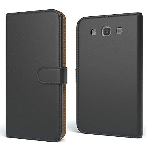 EAZY CASE Tasche für Samsung Galaxy S3 / S3 Neo Schutzhülle mit Standfunktion Klapphülle im Bookstyle, Handytasche Handyhülle Flip Cover mit Magnetverschluss und Kartenfach, Kunstleder, Schwarz