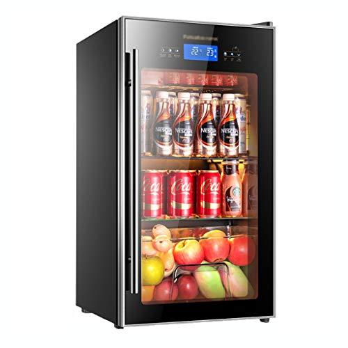 Kühlschrank Weinkühler Rotwein-Thermostat EIS Bar Thermostat Weinschrank Home Display Gekühlte kleine Gefriertruhe Lebensmittelkonservierung (Color : Black, Size : 83 * 45 * 46cm)