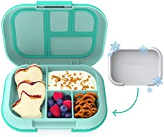 Bentgo Kids Chill Lunch Box - Bento-Style Lunch Solution with 4 Compartments and Removable Ice Pack for Meals and Snacks...